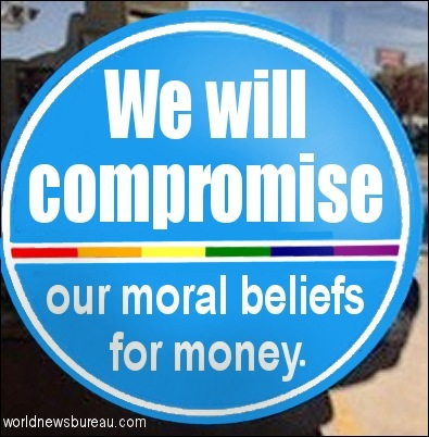 Compromise our beliefs sticker
