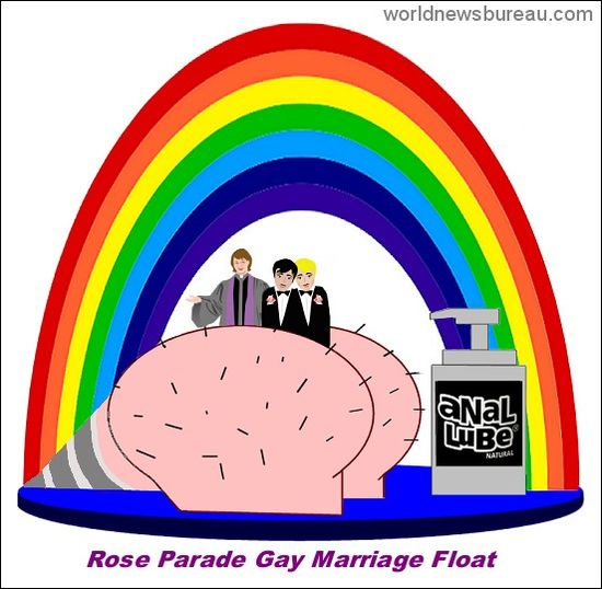 Rose Parade Gay Marriage Float