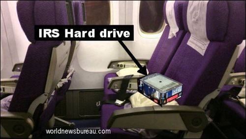 IRS hard drive on flight 370