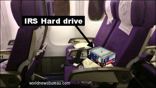 IRS hard drive on flight 370
