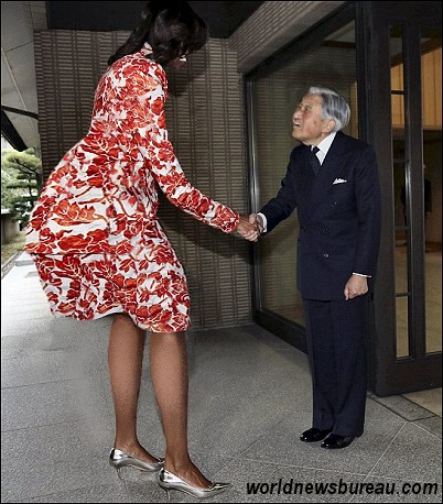 Michelle Obama and Akihito