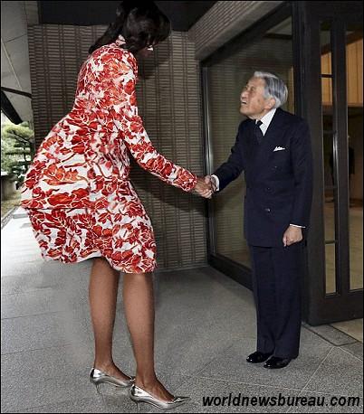 Michelle Obama and Akihito