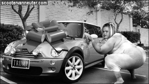 Sissy and her new car