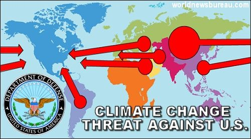 Climate change threat map