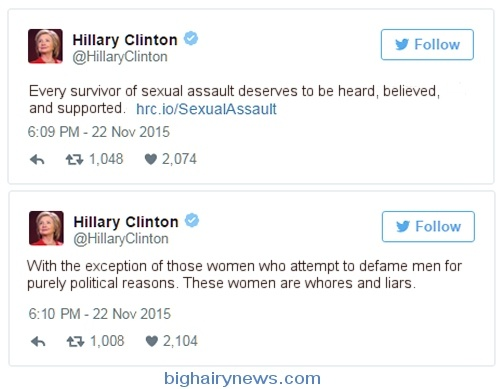 Hillary Clinton Sexual Assault Tweets