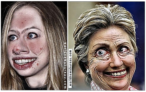 Chelsea and Hillary
