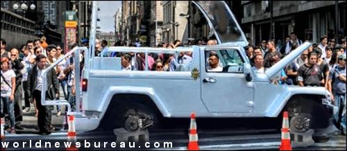 Popemobile in Mexico