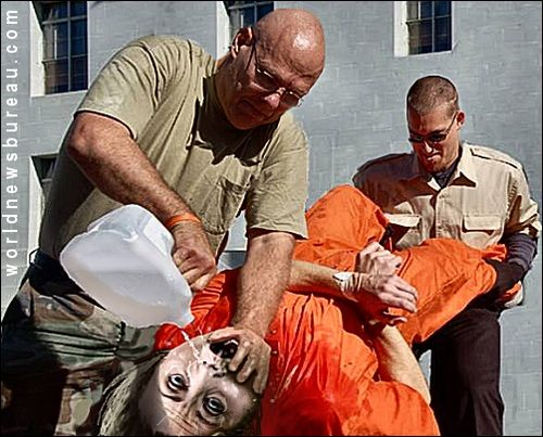 Hillary waterboarded