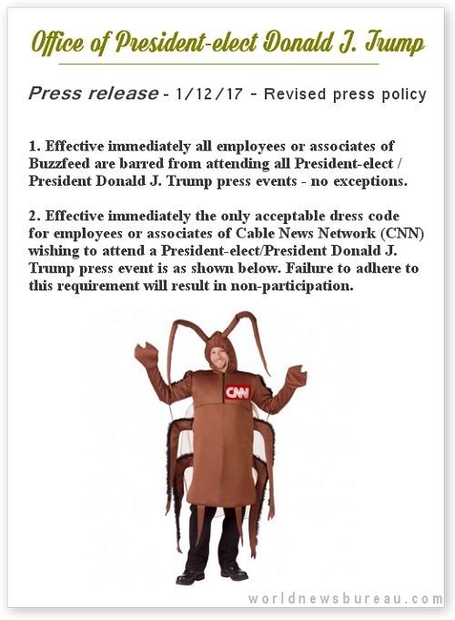 Trump press release