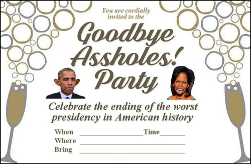 u0026quot goodbye obamas u0026quot  party invitations