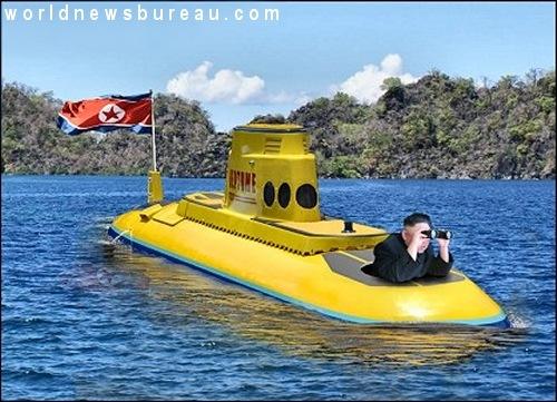 Kim Jong-Un in submarine