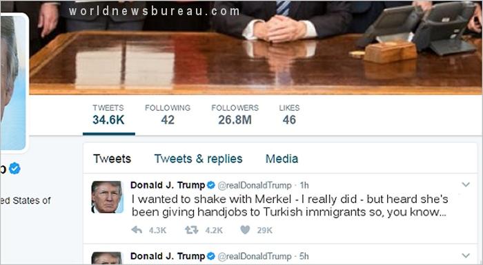 Trump Merkel Tweet