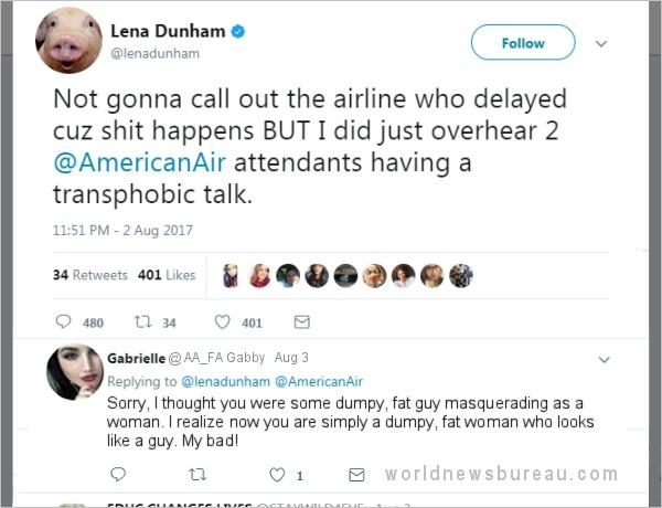 Lena Dunham tweet