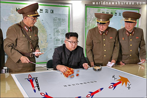 Kim Jong-un reviews Guam attack plans