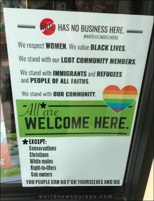 Hate Has No Business Here