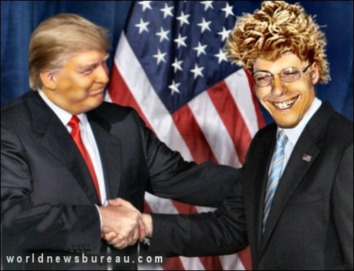 Trump and Advisor Scooter Van Neuter