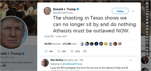 Trump Tweet About Texas Shooting