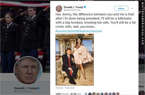Trump trolls Kimmel