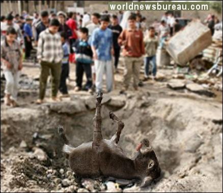 ISIS bomb damage