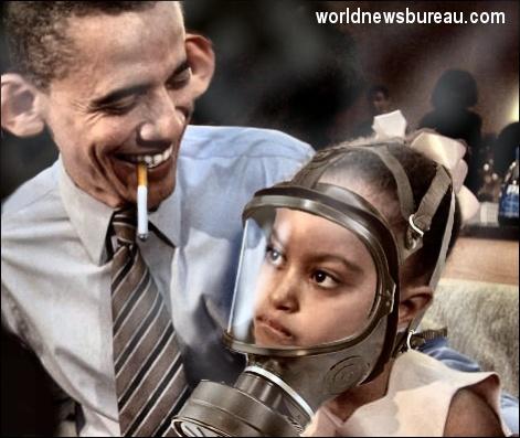 Obama and daughter