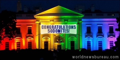 White House Rainbow Lights
