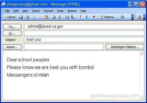 LA Schools terrorist email