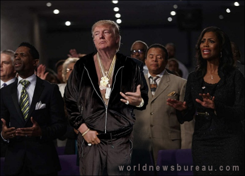 Trump Visits Black Church
