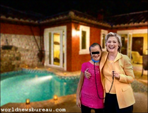 Hillary and young girl