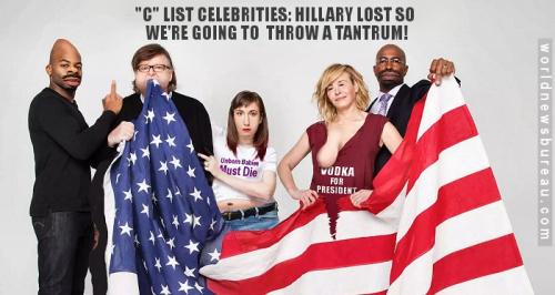 Celebrities protest Trump