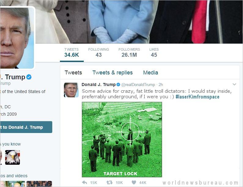 Trump Kim Jung Un Tweet