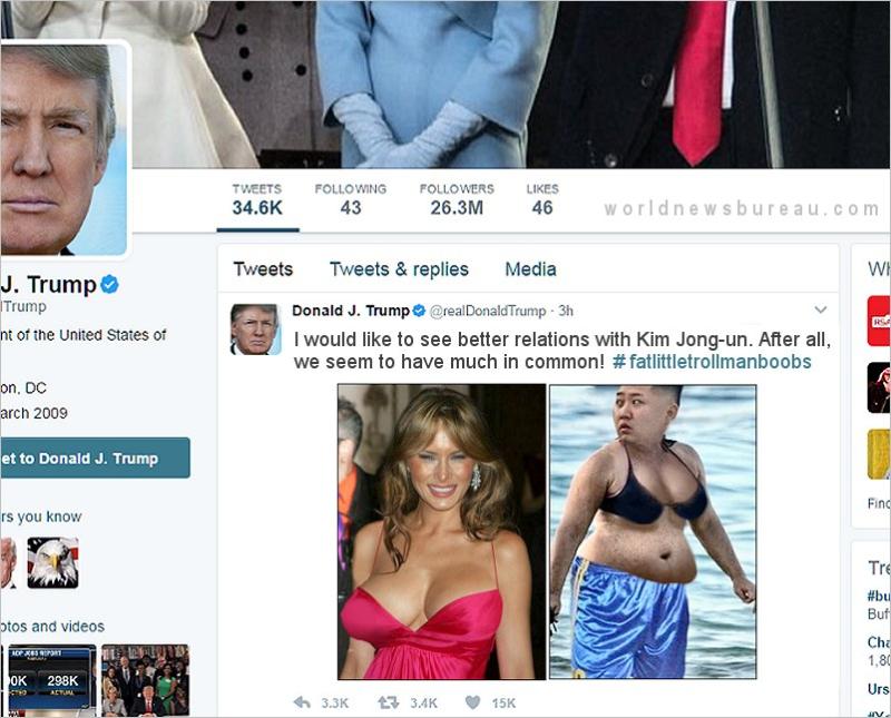 Trump Kim Jong-un Tweet