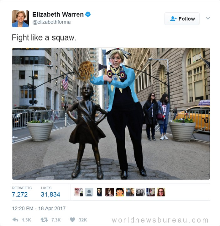 Elizabeth Warren Fight Like A Squaw