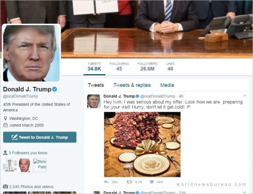 Trump Tweet To Kim Jong-un