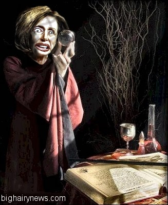 Pelosi casts spell on Trump