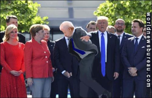 Trump Bullies In Belgium