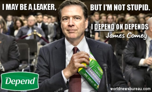 James Comey Depends Ad