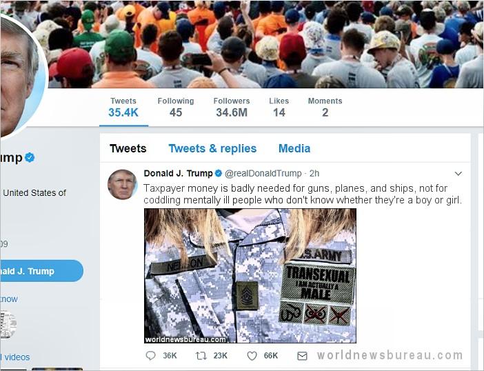 Trump Tranny Tweet
