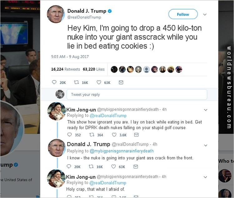 Trump Kim Tweet war