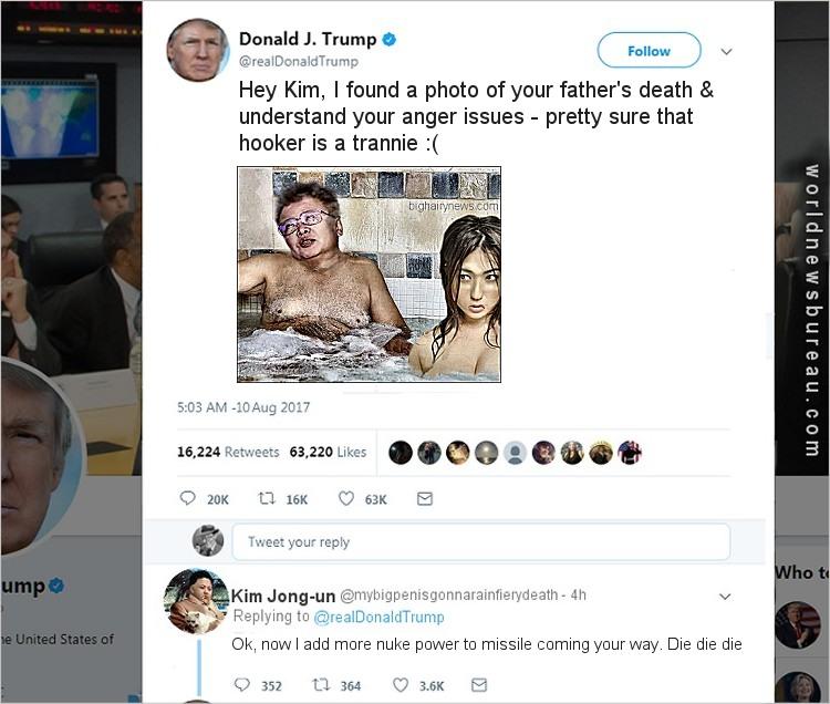 Trump Kim Jong-un attack turns personal