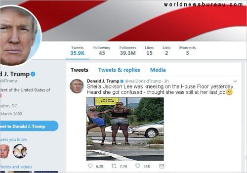 Trump Sheila Jackson Lee Tweet