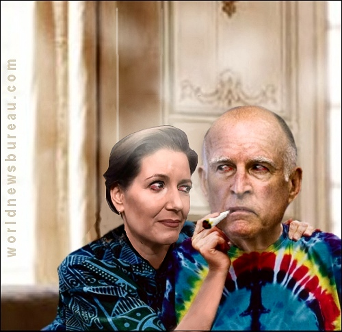 Libby Schaaf and Jerry Brown