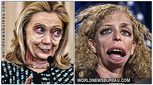 Clinton and Wasserman Schultz