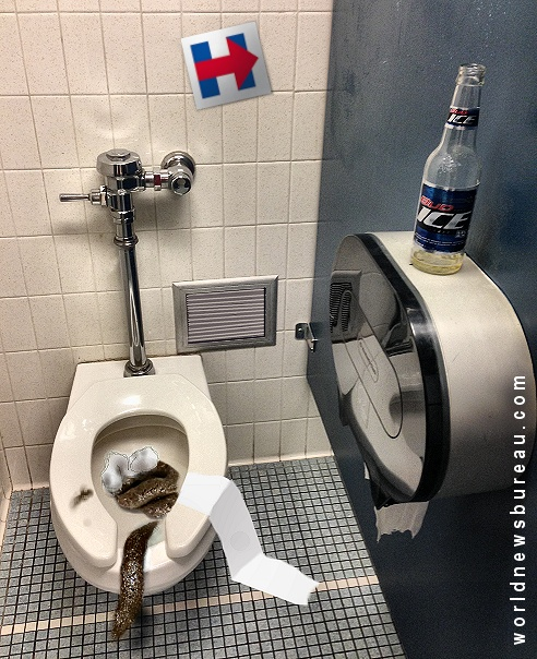 Hillary Clinton bathroom stall