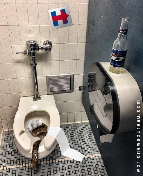 Hillary Clinton bathroom stall