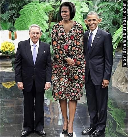 Raul Castro and Obamas