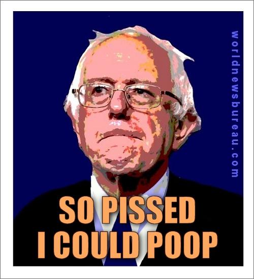 Pissed Bernie Sanders