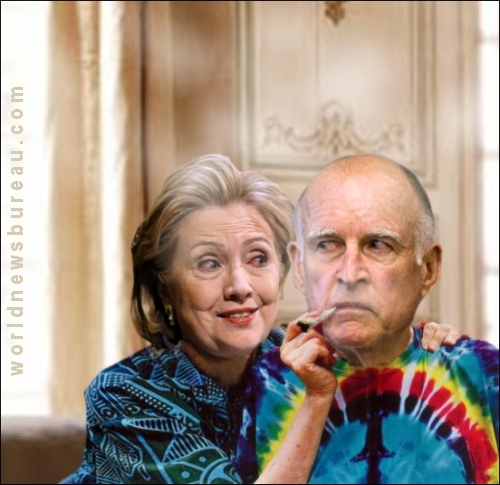 Hillary Clinton and Jerry Brown