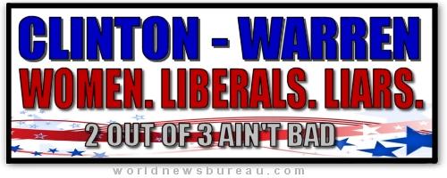 Clinton-Warren Sticker