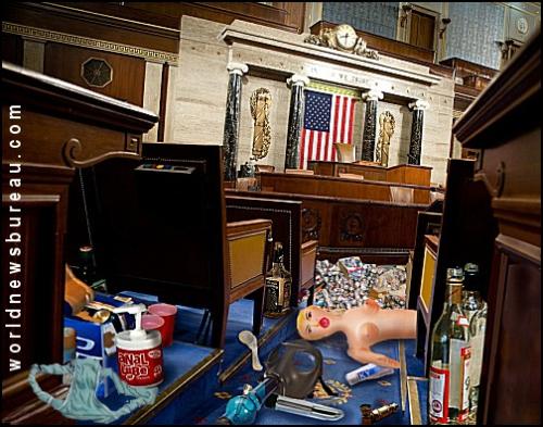 Aftermath of Democrat Sit In