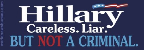 Hillary bumper sticker - not a criminal